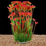 QUMY Aquarium Decor Fish Tank Decoration Ornament Artificial Plastic Plant Non-Toxic, Safe for All Fish 15.7 inch Tall 7.09 inch Wide (Pink) Photo, best price $16.99 new 2020