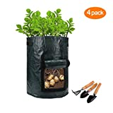 Garden Potato Grow Bag , 4-Pack 7 Gallon Vegetables Plant Grow Bags,Planting for Potato, Carrot, Vegetables Flower Plant Photo, best price $10.98 new 2019