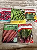 5 Packets of Seeds, courgette, Beans, Carrot, Tomato & Chard Thompson & Morgan Photo, best price $9.99 new 2019