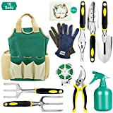 FITNATE Garden Tool Set, 10PCS Gardening Tools with Garden Storage Bag, Plant Rope, Soft Gloves, Watering Can, Garden Shear & 5pcs Garden Planting Tools with Gift Card Photo, best price $27.99 new 2019