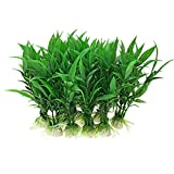 Jardin Plastic Aquarium Tank Plants Grass Decoration, 10-Piece, Green Photo, best price $2.10 new 2019