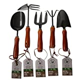 Unity 5-Piece Premium Medium Duty Garden Tool Set - Ergonomic Wooden Handles - Anti-Rust - Strong And Durable - Garden Tested Photo, best price $13.97 new 2019