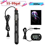 300w Submersible Aquarium Heater Auto Thermostat heater with suction,heater for fish tank water,Bonus thermometer and Jellyfish Decoration Photo, best price $18.99 new 2018