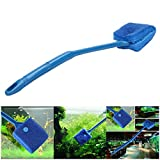 Petacc Double-sided Fish Tank Cleaner Sponge Cleaning Brush Portable Scraper Practical Scrubber with Non-slip Handle, Suitable for Cleaning Fish Tank (Blue) Photo, best price $9.99 new 2019