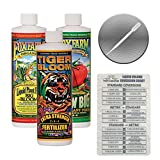 Fox Farm Liquid Nutrient Trio Soil Formula: Big Bloom, Grow Big, Tiger Bloom (Pack of 3 - 16 oz. bottles) 1 Pint Each + Twin Canaries Chart & Pipette Photo, best price $27.95 new 2019