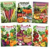 Rainbow Vegetable Seed Collection (35+ Varieties of Carrots, Peppers, Pumpkins, Tomatoes & Beets!) Non-GMO Seeds by Seed Needs Photo, best price $22.10 new 2019